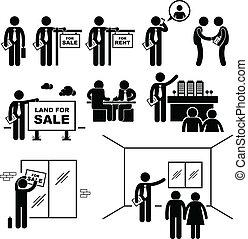 verdadero, propiedad, agente, propiedad, cliente