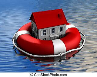 verdadero, rescate, propiedad