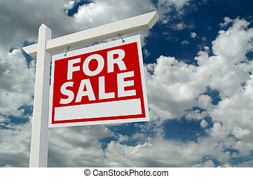 verdadero, venta, propiedad, señal