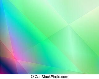 Verde, abstracto, brillante, fondo con onda