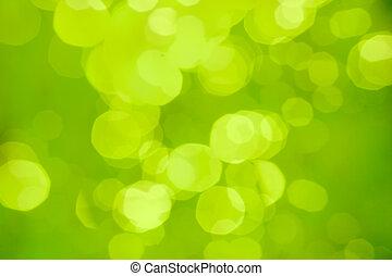 Verde borroso fondo abstracto o bokeh