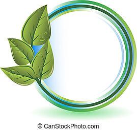verde, concepto, ecología