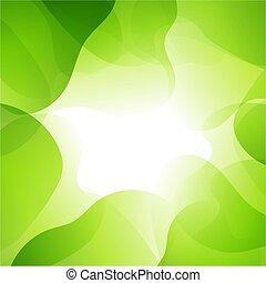 verde, línea, plano de fondo, resumen