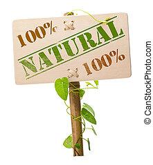 Verde natural y bio signo