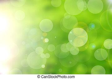 Verde naturaleza bokeh fondo abstracto