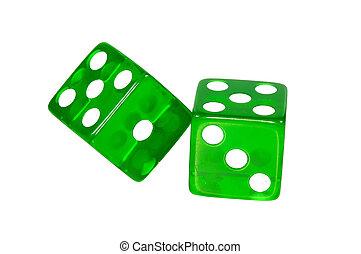 verde, recorte, -, dados, trayectoria