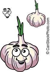 Verdura fresca de ajo