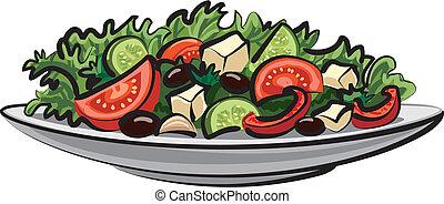 verdura fresca, ensalada