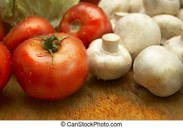Verdura fresca y húmeda