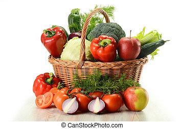 Verduras en la canasta