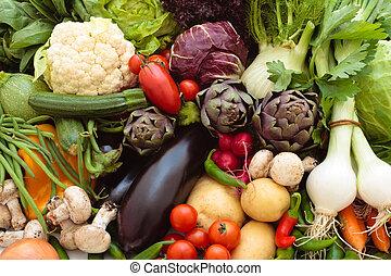 Verduras frescas.