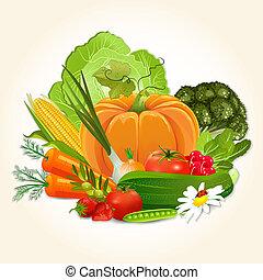 Verduras jugosas para tu diseño