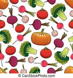 Verduras sanas maduras sin costura