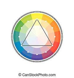 versicolor, spectral, arco irirs, polychrome, círculo, multicolor, 12, segments.