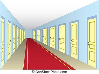 vestíbulo, puertas