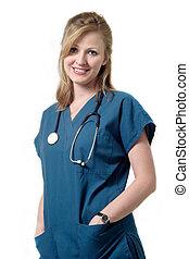 Vestido de enfermera sonriente