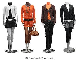 vestido, maniquí, moda