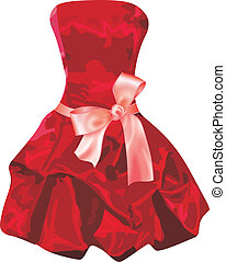 vestido, rojo