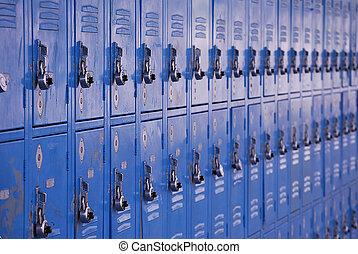 Vestuarios de metal escolares