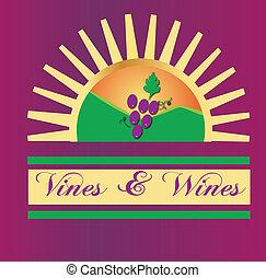 Viñas y vinos logotipo solar