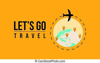 Viaja en el concepto mundial