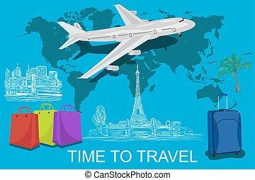 Viajar alrededor del concepto mundial