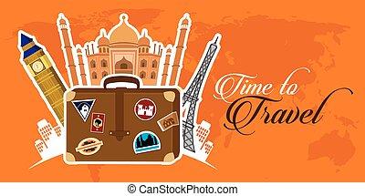 Viajar alrededor del mundo ilustrado