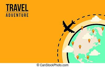 Viajar aventura el concepto del mundo