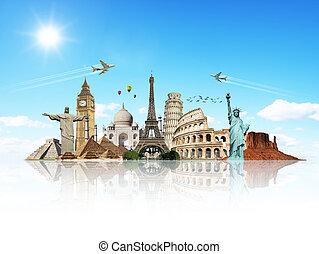 Viajar por los monumentos del mundo