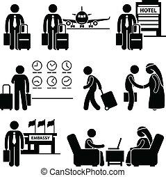 Viaje de negocios de viaje de negocios