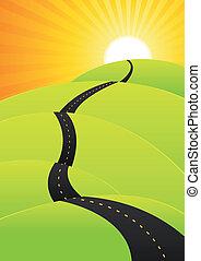 Viaje de verano - largo viaje por carretera