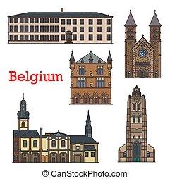 viaje, echternach, luxemburgo, señales, iglesias