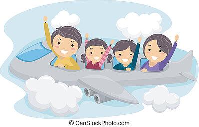 viaje, familia