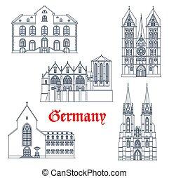 viaje, marburg, alemania, señales, arquitectura