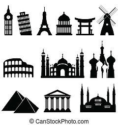 viaje, señales, monumentos