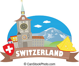 viaje, switzerland., turismo