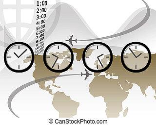 viaje, tiempo