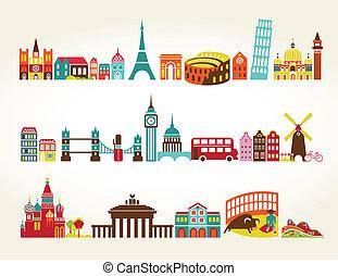 viaje turismo, ubicaciones