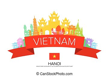Viajes a Vietnam, viajes a Hanoi, monumentos.