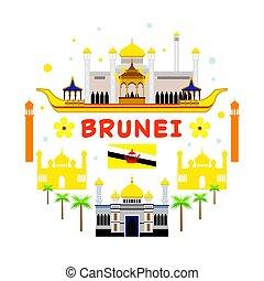 Viajes Brunei y etiqueta de atracción