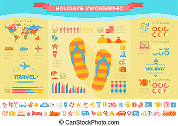 Viajes en plantilla infográfica.