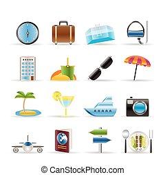 Viajes, viajes y iconos turísticos