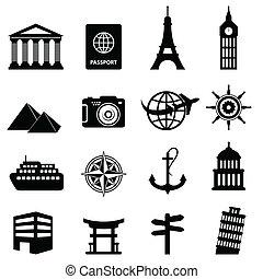 Viajes y iconos turísticos