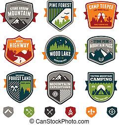 Viajes y placas de campamento