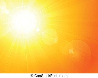 Vibrante sol de verano caliente con bengala