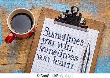 victoria, o, aprender, usted, a veces