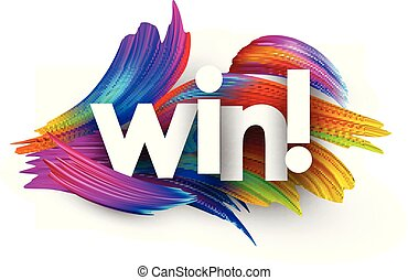 victoria, strokes., papel, colorido, cepillo, cartel