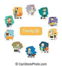 Vida familiar y padres se preocupan