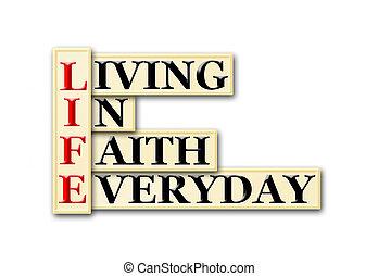 vida, fe