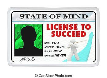 vida, licencia, permiso, exitoso, -, triunfe